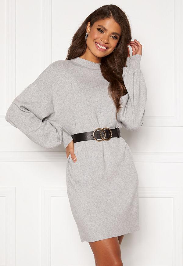 Vero Moda Nancy LS Balloon Dress Light Grey Melange