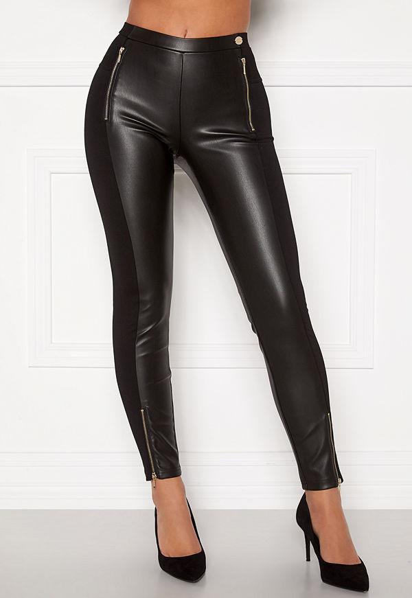 Chiara Forthi Stansie coated leggings Black