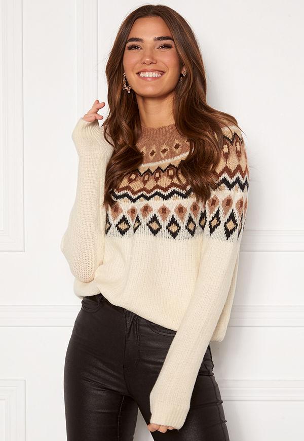 Only Amber Jaquard Pullover Beaver Fur /Ginger R