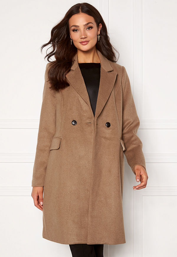 Vero Moda Noramille 3/4 Wool Jacket Sepia Tint