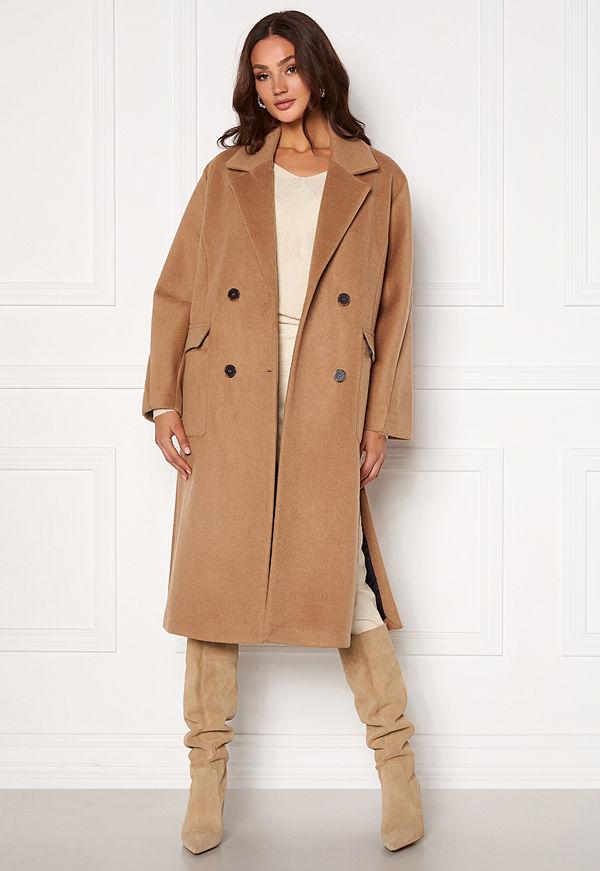 Selected Femme Element Wool Coat Tigers Eye