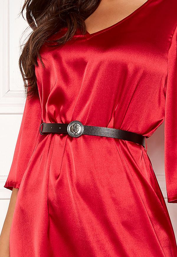 Chiara Forthi Pulsante Silver Belt Black