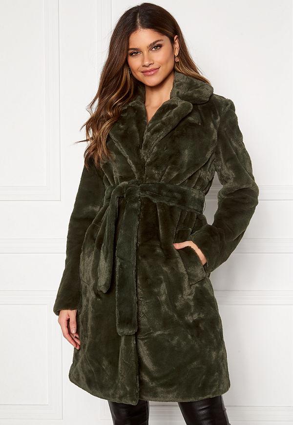 Vila Boda New Faux Fur Coat Forest Night