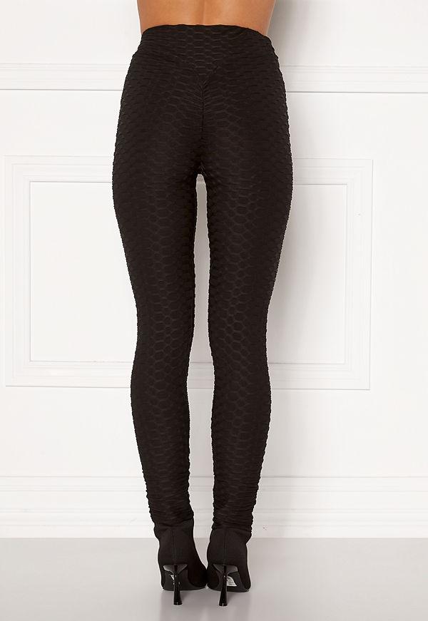 Ax Paris Textured Sculpt Leggings Black