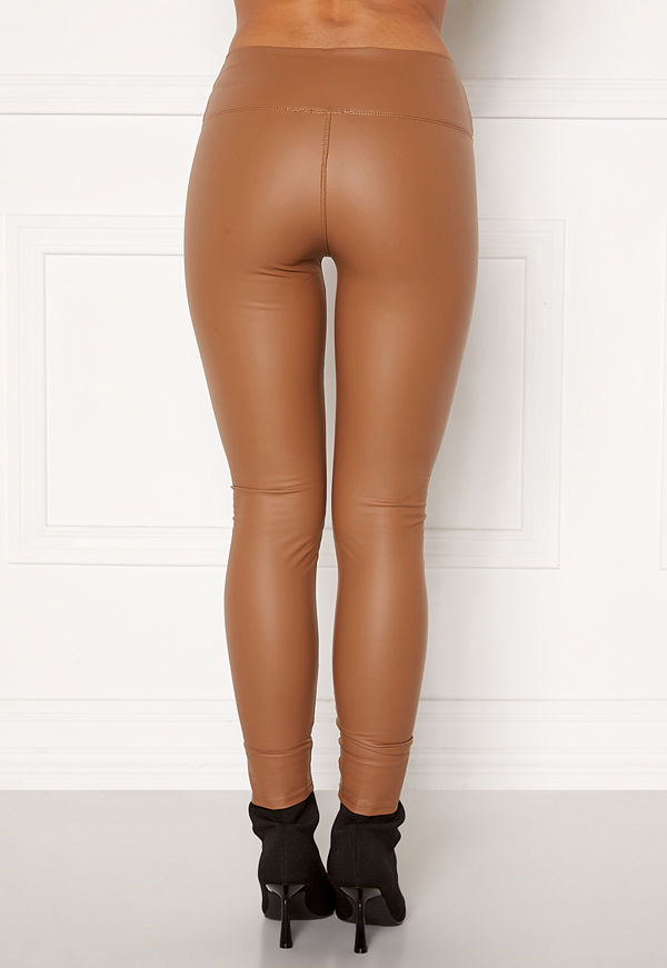 John Zack Faux Leather PU Legging Camel