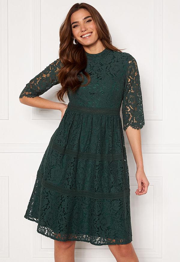 Happy Holly Madison lace dress Dark green