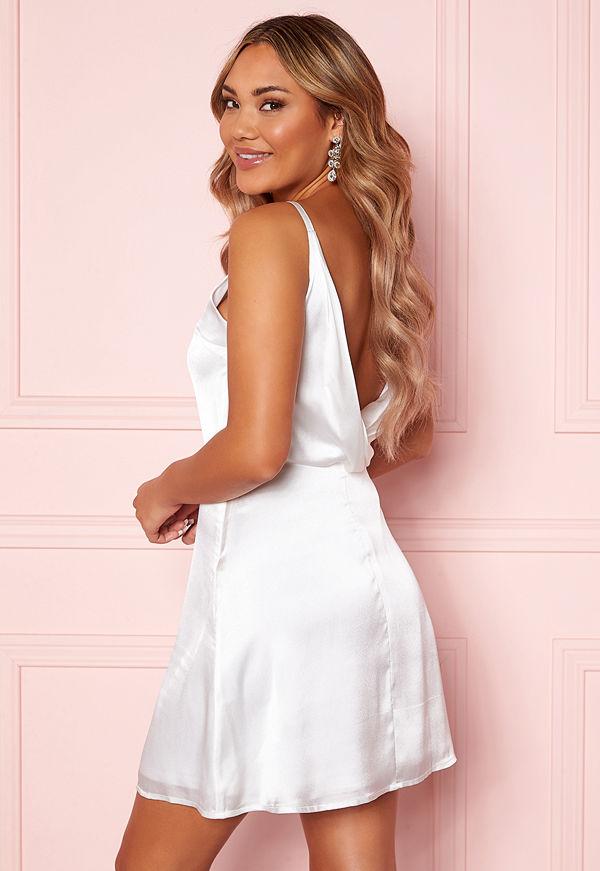 Moments New York Laylani Satin Dress White
