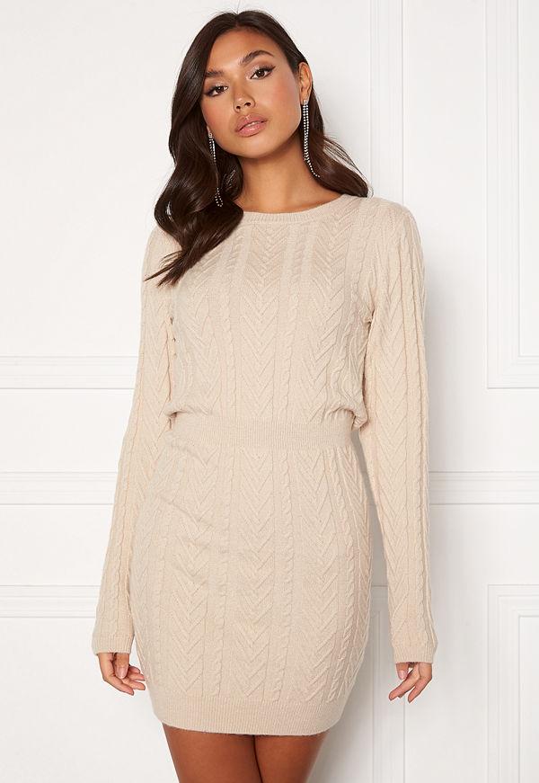 Bubbleroom Rishi knitted dress Light beige