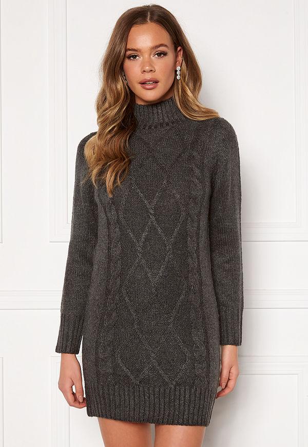 Happy Holly Arabella sweater dress Grey melange