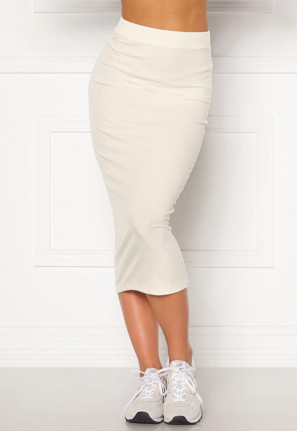 Bubbleroom Ofelia midi skirt White