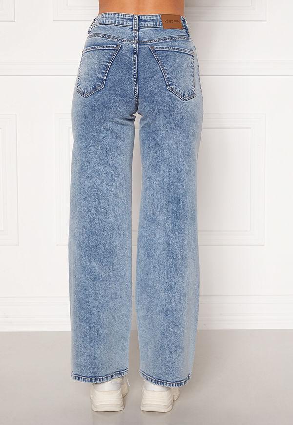 Happy Holly Peggy wide leg jeans Light denim
