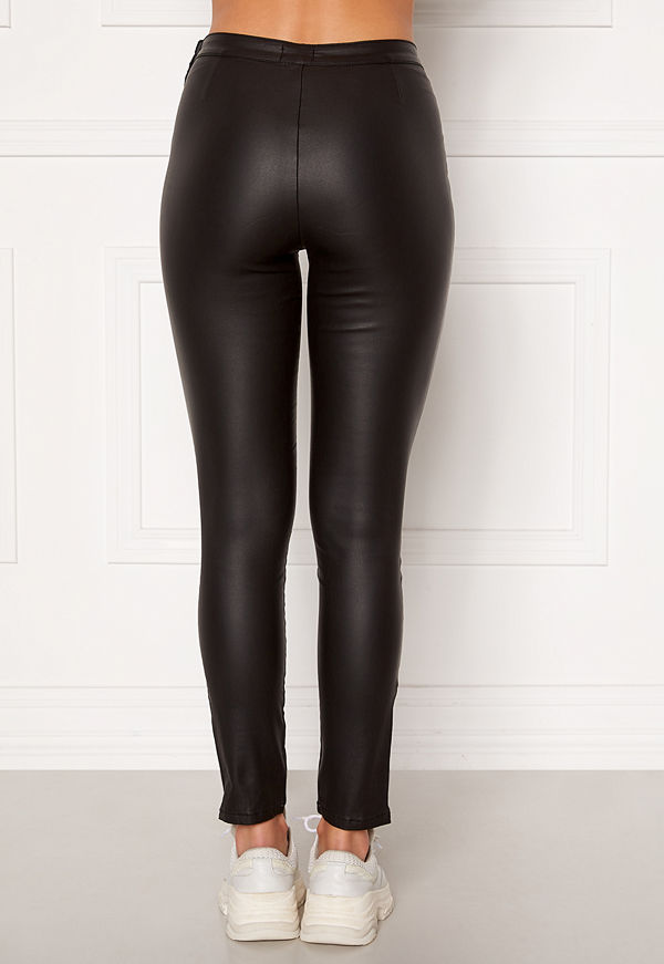 Bubbleroom Brienne coated zip leggings