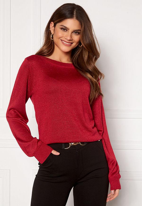 Happy Holly Angelica lurex sweater Dark red