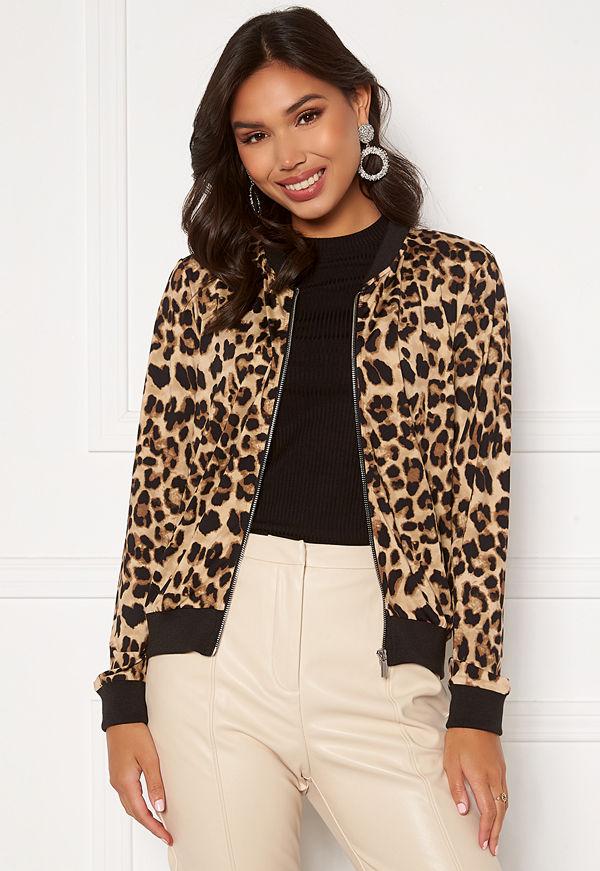Happy Holly mönstrad bomberjacka Hanna bomber jacket Leopard