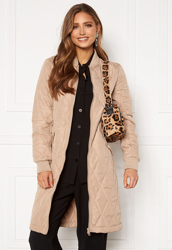 Happy Holly Freya quilted coat Beige