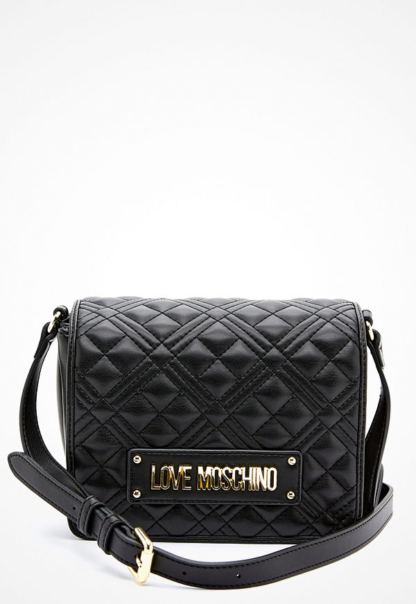 Love Moschino axelväska New Shiny Quilted Bag 000 Black