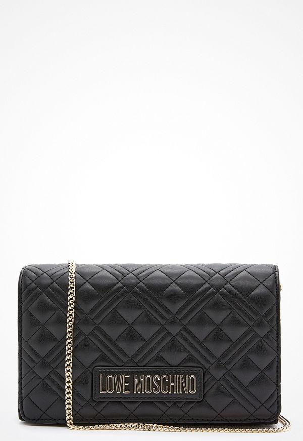 Love Moschino svart mönstrad axelväska Evening Bag Black