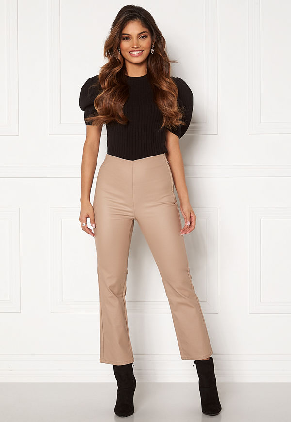 Bubbleroom byxor Alicia coated kickflare trousers
