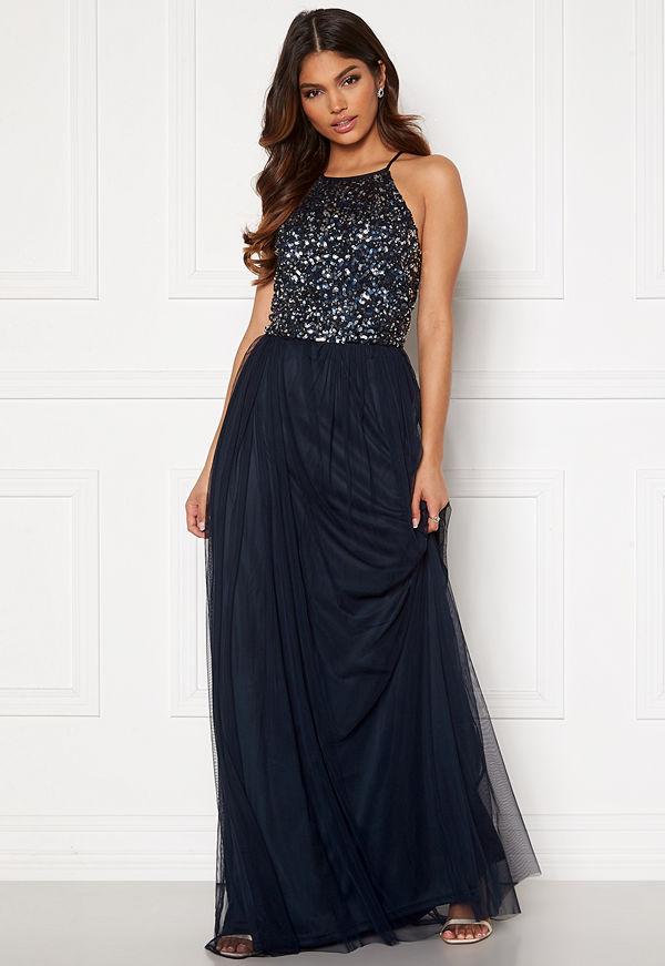 Angeleye High Neck Sequin Maxi Dress