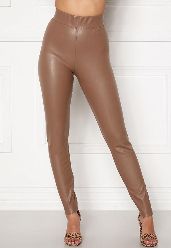 Only Superstar PU Leggings Walnut