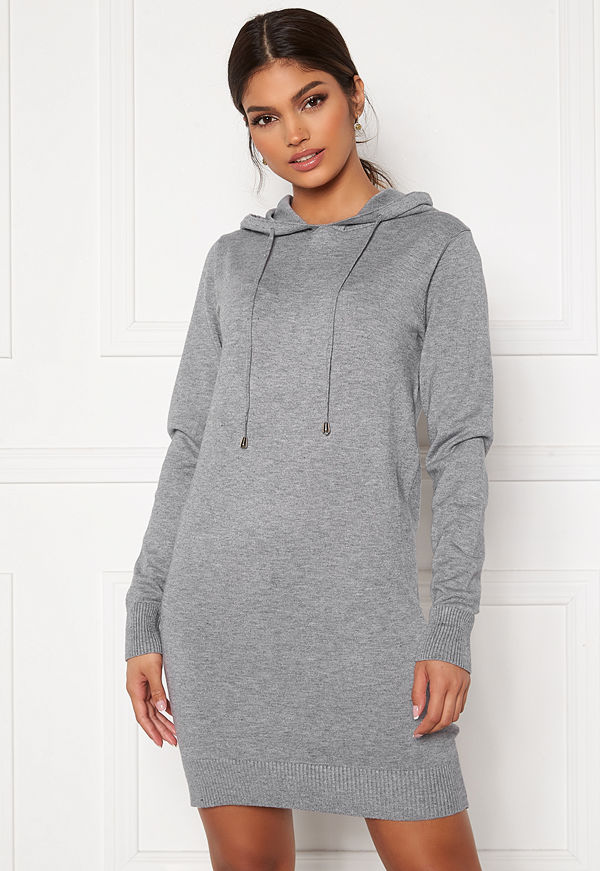 Blue Vanilla Knitted Jumper Dress With Hood