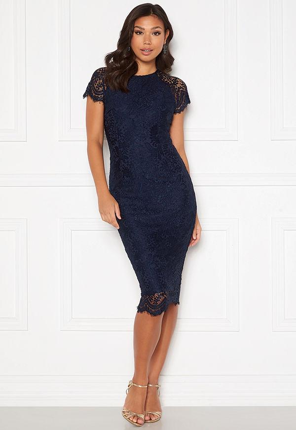 Ax Paris Scallop Lace Midi Dress