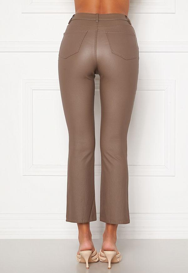 Object byxor Belle MW Coated Flared Pants