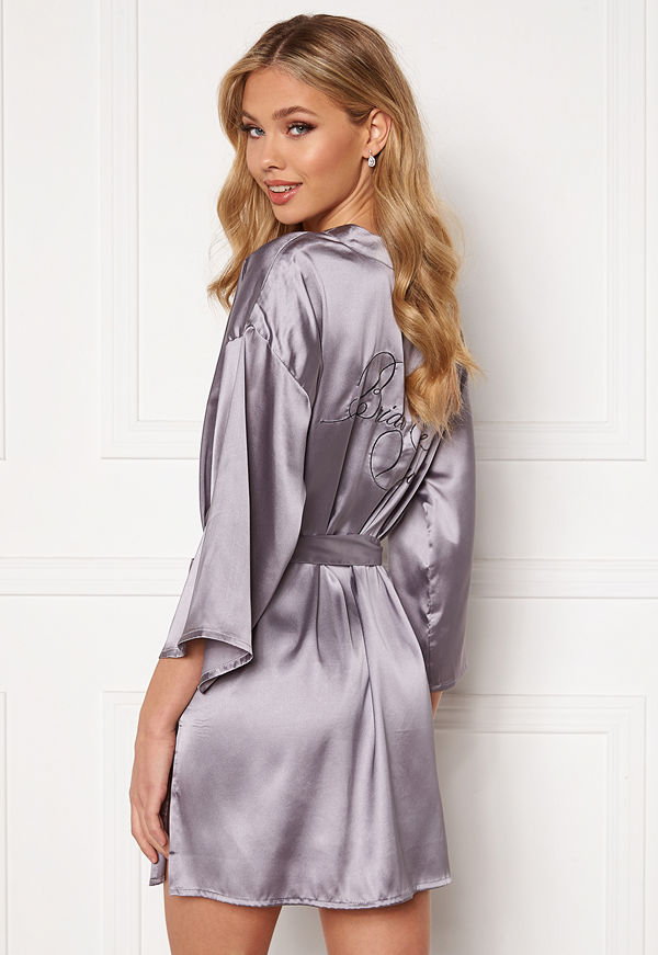 Bubbleroom Aylin Robe Grey-blue