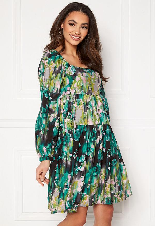 Vero Moda Nora L/S Dress Ash AOP:Nora