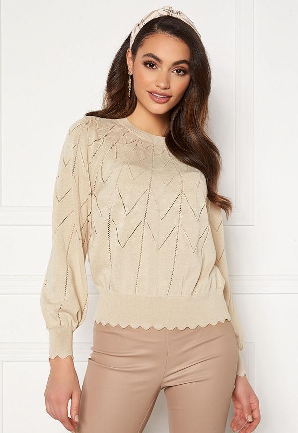Object Noelle L/S Knit Pullover Sandshell