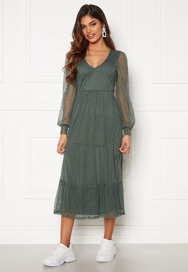 Happy Holly Elin mesh dress Green
