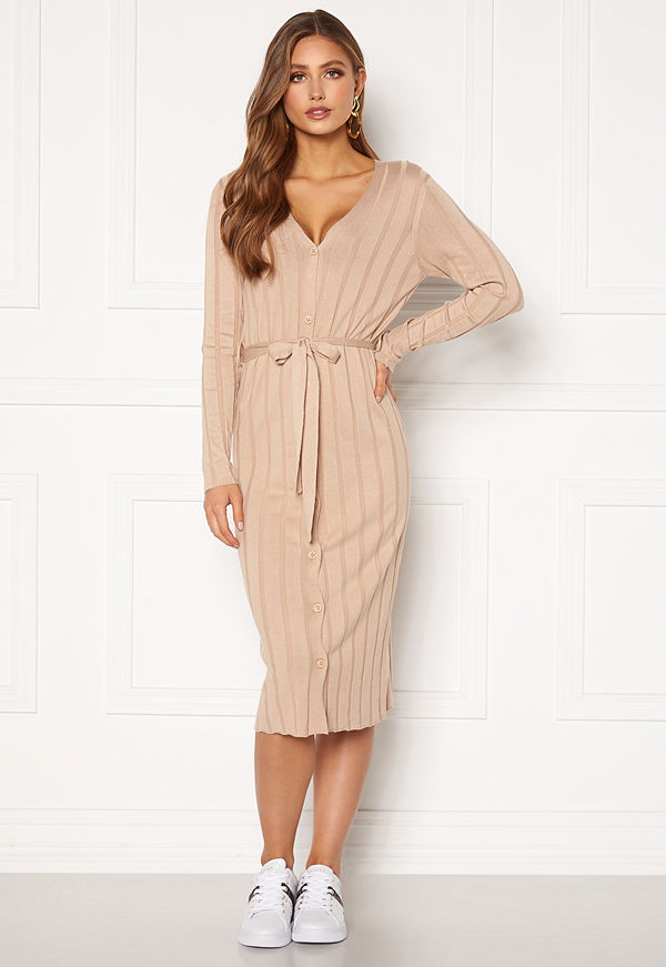 Happy Holly Anabelle long cardigan Beige