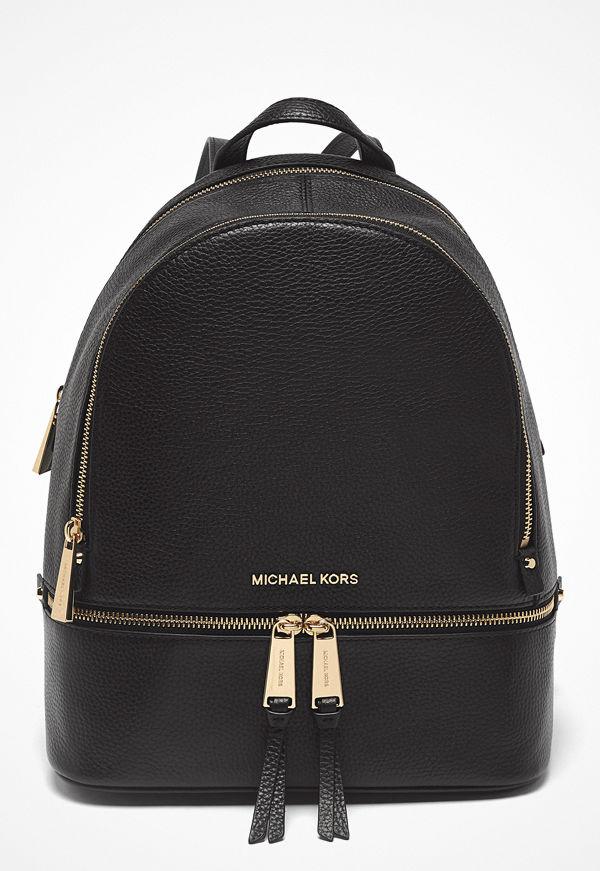 MICHAEL Michael Kors svart ryggsäck Rhea Zip Backpack 001 Black