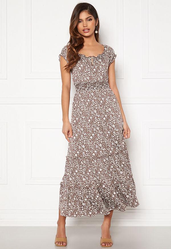 Happy Holly Jemma flounce dress Light lilac / Light beige