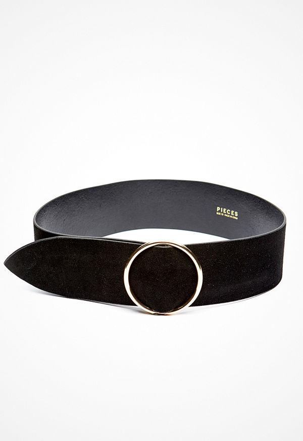 Pieces Docia Suede Waist Belt Black
