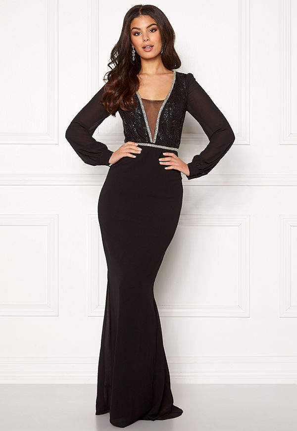 Make Way Emeline gown Black