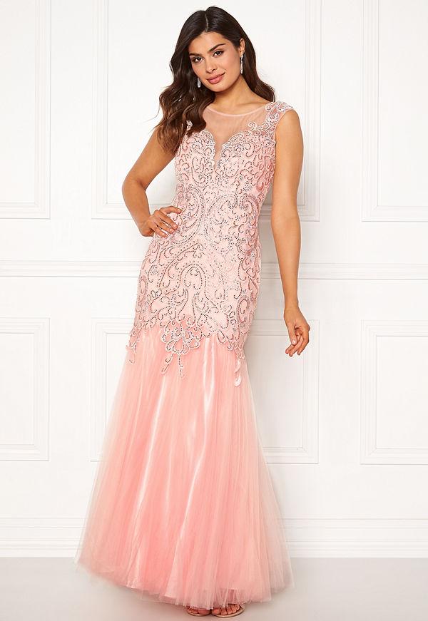 Susanna Rivieri Embellished Shine Dress Blush