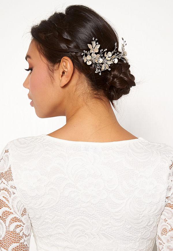 Ivory & Co smycke Flora Haircomb Silver