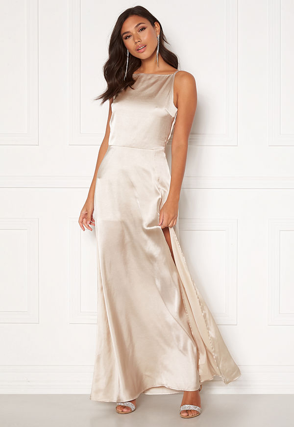 Moments New York Laylani Satin Gown Champagne