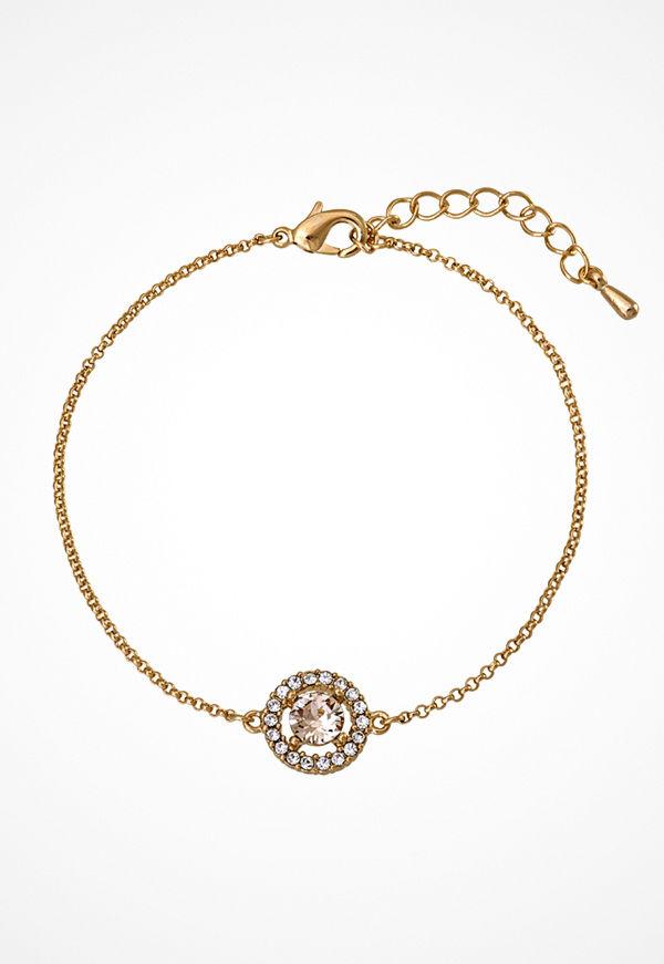 Lily and Rose armband Miss Miranda Bracelet Light Silk/gold