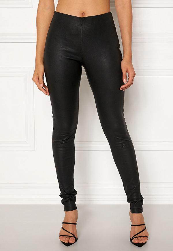 Object Tilde MW Leather Leggings Black
