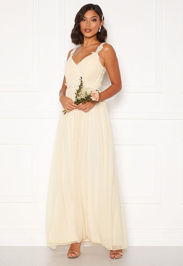 Moments New York Afrodite Chiffon Gown Champagne