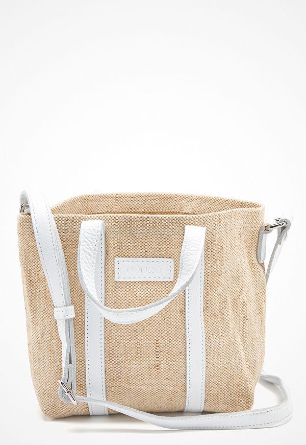 NuNoo omönstrad axelväska Small Shopper Sand