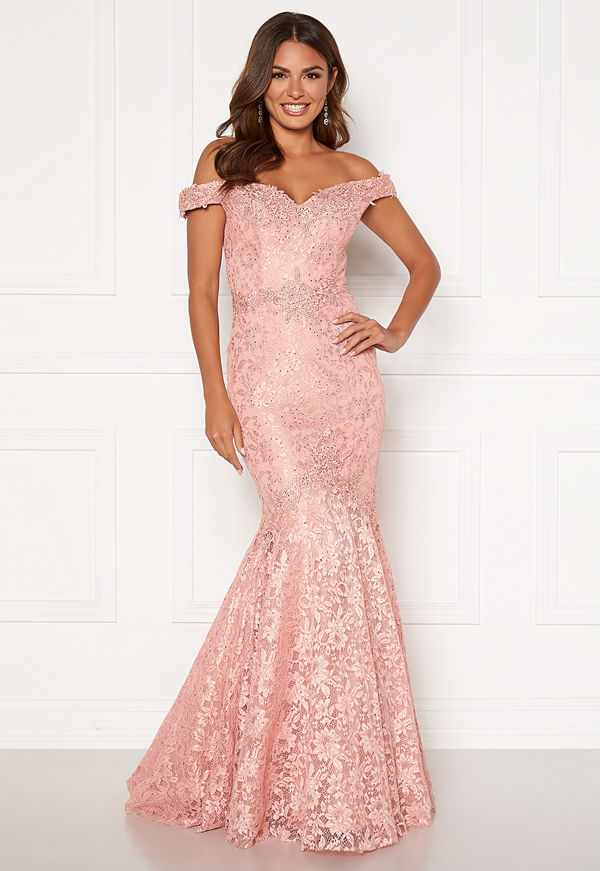 Susanna Rivieri Mermaid Lace Dress Blush