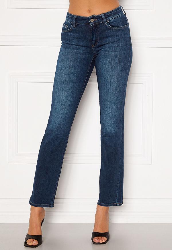 Only Malou Reg Life Straight Jeans Dark Blue Denim