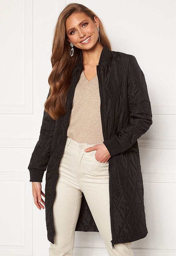 Happy Holly Freya quilted coat Black