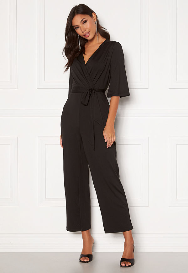 Happy Holly Simone kimono sleeve  jumpsuit Black
