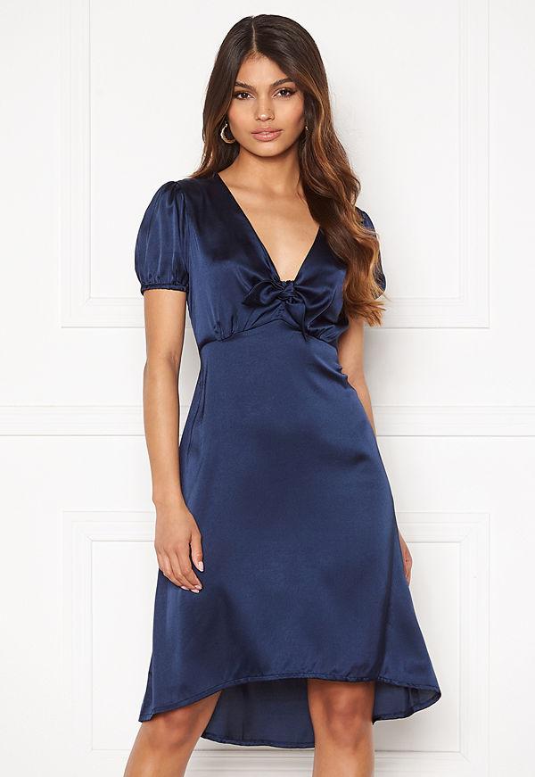 Happy Holly Therese Shiny Dress Navy