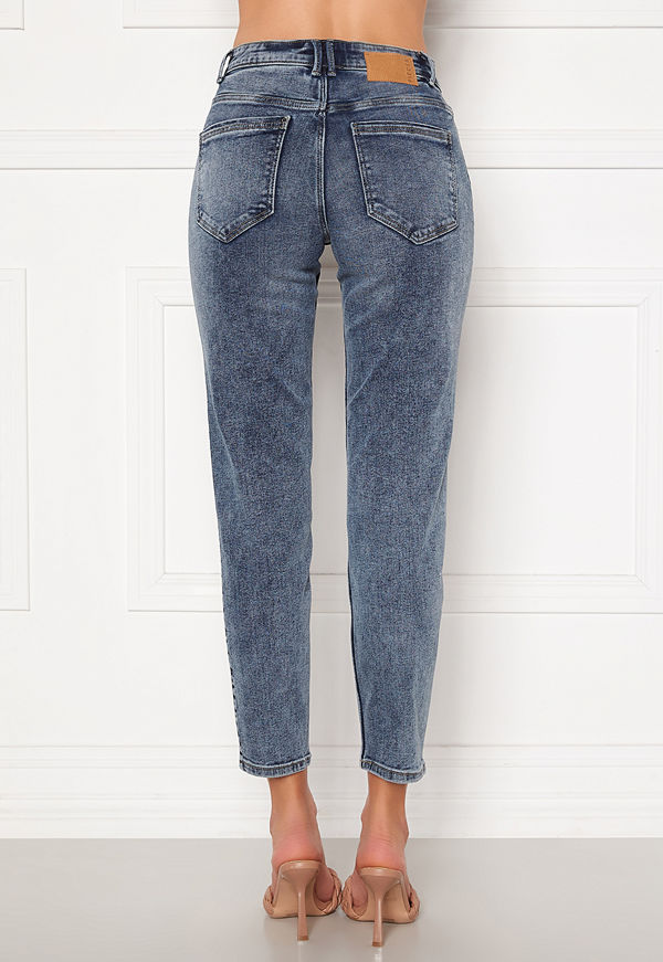 Pieces Lili Slim MW Jeans Light Blue Denim