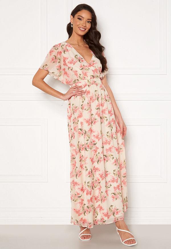 Vila Kathryn S/S Ankle Dress Cloud Dancer Flower